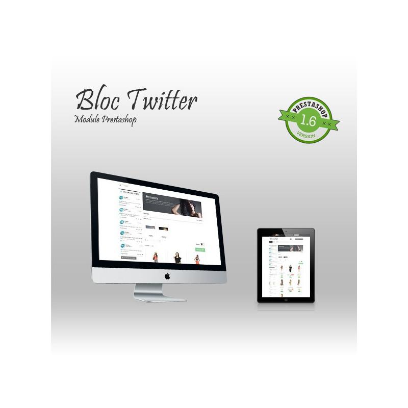 Module Prestashop Bloc Twitter