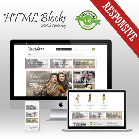 HTML Blocks Prestashop Module