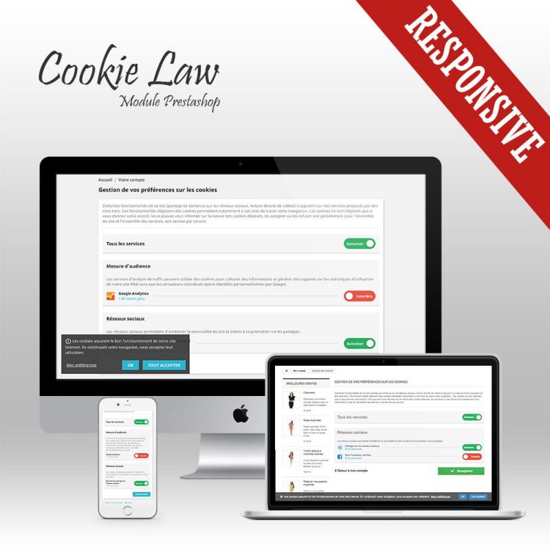 Module Prestashop Cookie Law - Blocage des Cookies + Bannière