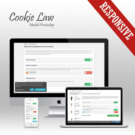 Cookie Law Prestashop module - Banner + Cookie blocker