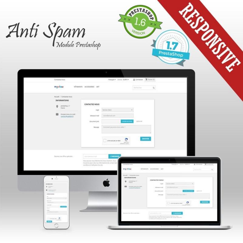 Module Prestashop Anti Spam - Bloqueur de Spam et Google reCaptcha